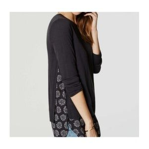 Ann Taylor Loft PAISLEY TWO-IN-ONE SWEATER XS